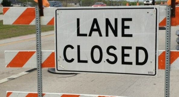 Lane Closure Sign